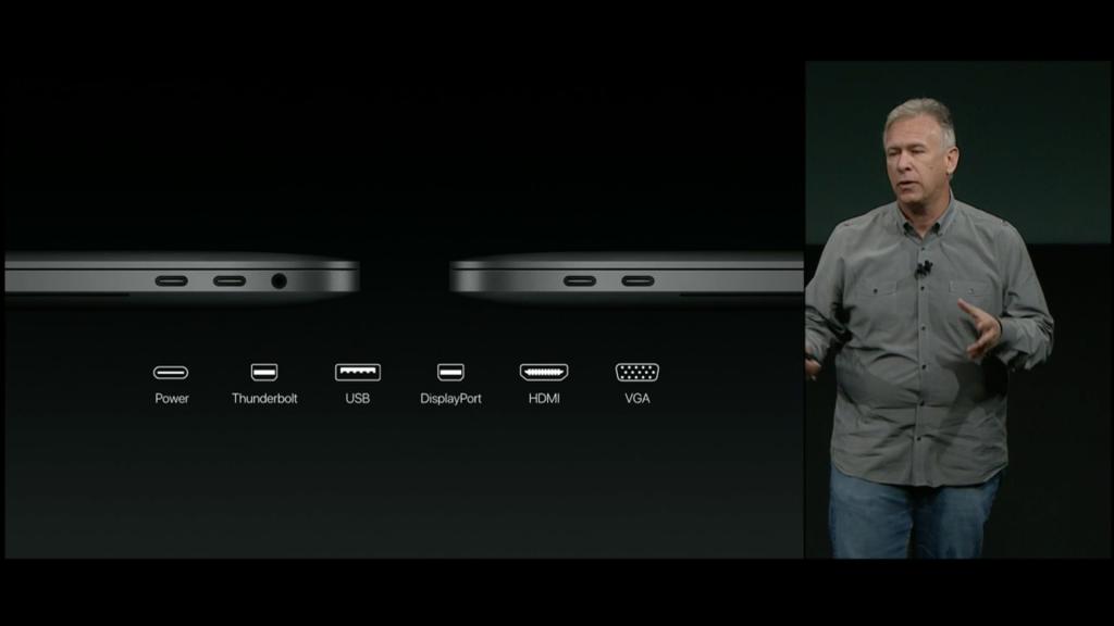 Die Anschlüsse des MacBook Pro 2016